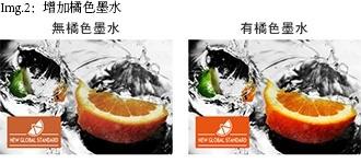 Img.2:增加橘色墨水