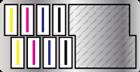 搭載8顆噴頭,一列4顆以2列交錯排列