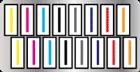 搭載16顆噴頭,一列8顆以2列交錯排列