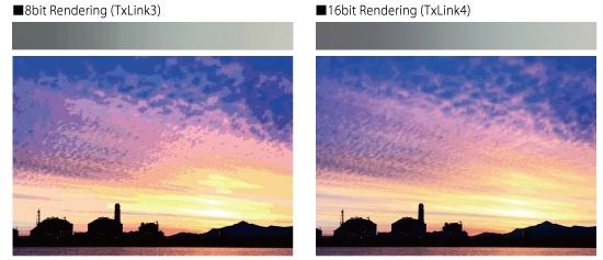 16bit Randering(TxLink4)