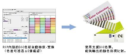RIP內部的DIC色彩自動檢索・變換(色差可透過ΔE值確認)