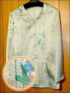 加賀友禪印刷樣品 襯衫
