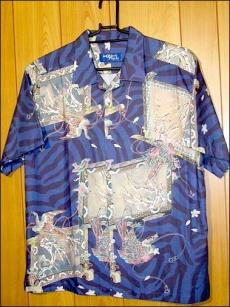 加賀友禪印刷樣品 夏威夷花襯衫