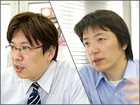 宮坂次郎さん(左)、柴田昌弘さん(右)