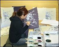 加賀友禅の作業風景