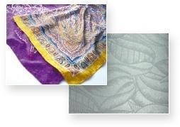 將設計自由地呈現於棉、麻、絲織品、嫘縈上