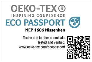 ECO PASSPORT認證標章No. NEP 1606