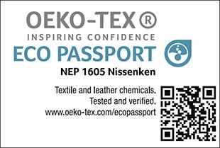 ECO PASSPORT認證標章No. NEP 1605