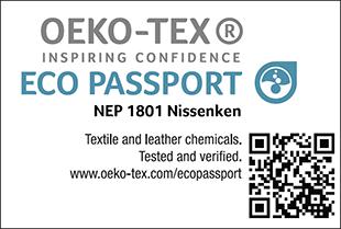 ECO PASSPORT認證標章No. NEP 1801