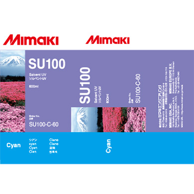SU100-C-60 SU100 Solvent UV ink pack Cyan
