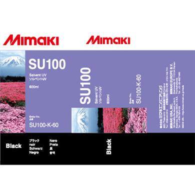 SU100-K-60 SU100 Solvent UV ink pack Black