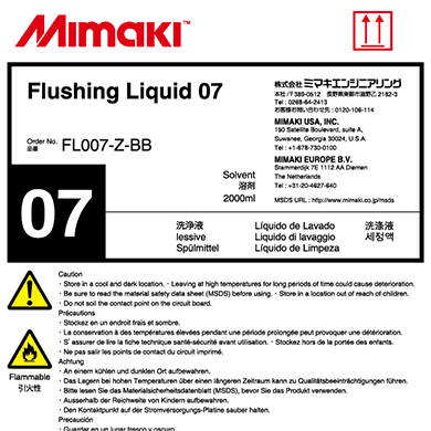 FL007-Z-BB Flushing Liquid 07 (2L bottle)