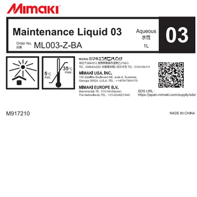 ML003-Z-BA Maintenance Liquid 03 (1L bottle)