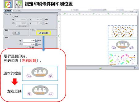設定印刷條件與印刷位置