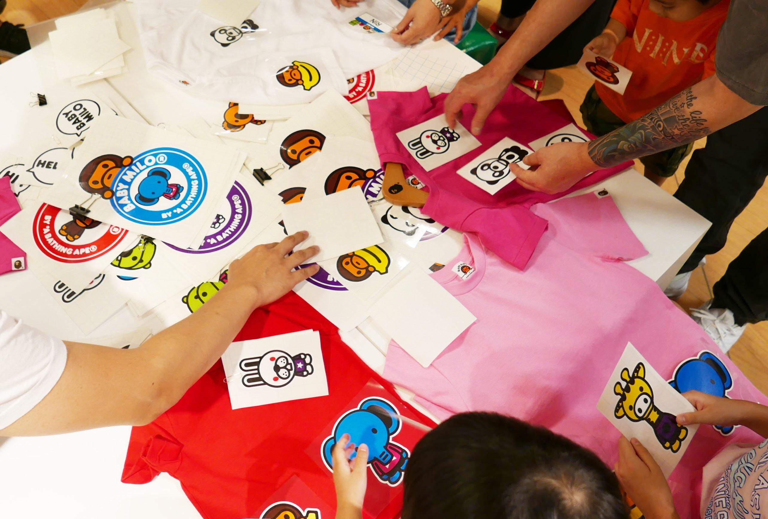 BAPE KIDS®原創T恤工作坊協助 @西武池袋本店6樓 孩童服飾樓層