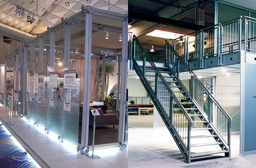 設計性與施工性優良的「系統展示」。透過UCJV300-160的白墨達到具有表現力的系統。