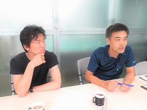 左起為齋藤英二先生與伊藤雅浩課長