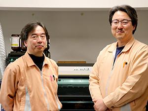 代表董事 菅原祥栄(右)、工程部 山上次朗(左)